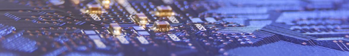 Close-up of a printed circuit board